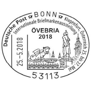 Fossil of cave bear on postmark of Germany 2018