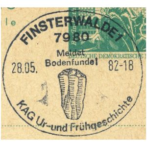 Cave Bear on postmark of East Germany 1973