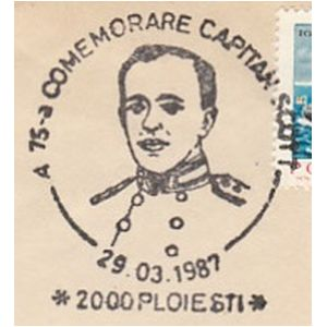 Captain Robert Falcon Scott on commemorative postmarks of Romania 1987