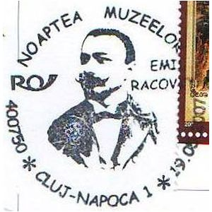 Emil Racovita on commemorative postmarks of Romania 2007