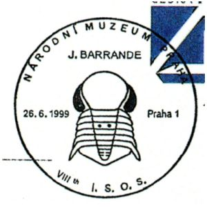 Trilobite on postmark of Czech 1999