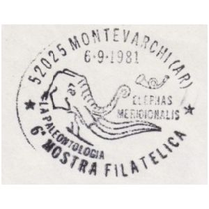 Mammuthus meridionalis on poststamp of Italy 1981