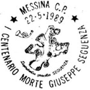 Fossils on postmark of Italy 1989
