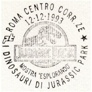 Dinosaur on postmark of Italy 1993