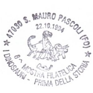 Dinosaurs on postmark of Italy 1994