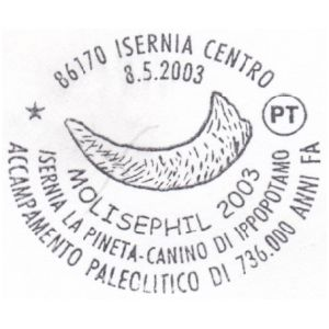 Mammonth on postmark of Italy 2003