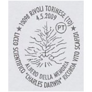 evolution tree on postmark of Italy 2009