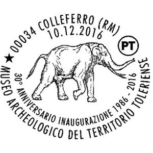Mammoth on postmark of Italy 2016