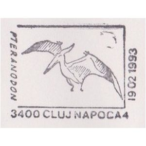 Dinosaurs on commemorative postmarks of Romania 1979