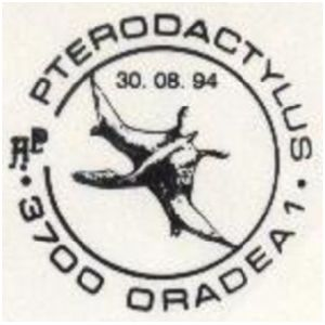 Pterodactylus on commemorative postmarks of Romania 1994