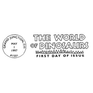 Postmark of USA 1997 for FDC covers of The World of Dinosaurs stamps set