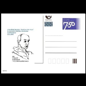 Paleoartist Zdenek Burian on personalized postal stationery of Czech Republic 2005