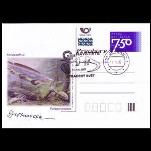 Prehistoric animals on personalized postal stationery of Czech Republic 2007