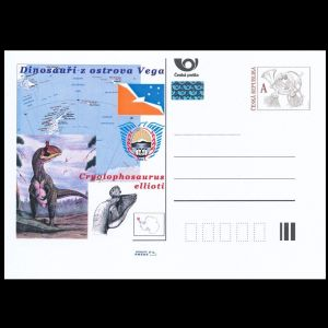 Dinosaurs on personalized post stationary of Czech Republic 2011