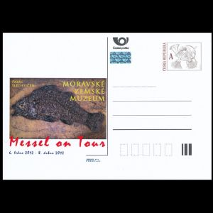 prehistoric fish on personalized postal stationery of Czech Republic 2012