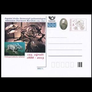 prehistoric animal on personalized post stationary of Czech Republic 2013