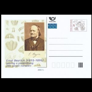 paleontologist Ernst Beyrich on personalized post stationary of Czech Republic 2015