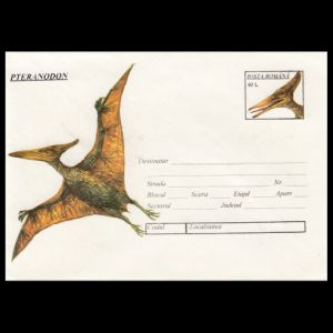 Pteranodon on postal stationery of Romania 1994