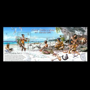 early humans on stamps of Pitcairn islands 2006