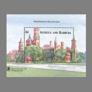 Smithsonian Institution on stamps of Antigua and Barbuda 1989