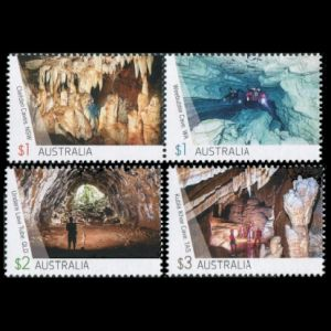 Fossil found place on cave stamps of Australia 2017