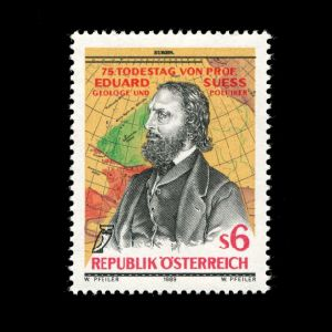 Professor Eduard Suess on stamp of Austria 1989