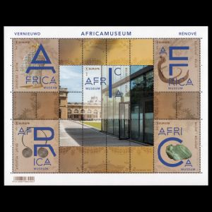 The Africa Museum on stamps of Belgium 2018