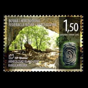 fossil found place Torotoro on stamp of Bolivia 2013