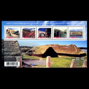 Fossil found place: Dinosaur provincial park on stamps of Canada 2015