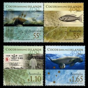 HMS Beagle on Historic Ships stamp of Cocos Islands 1976