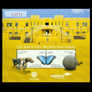 Natural History Museum on stamps of Costa Rica 2012