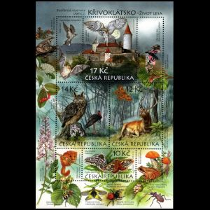 Fossil found place the Krivoklatsko Region on stamps of Czech Republic 2009