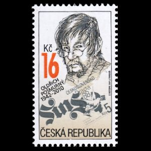 Oldřich Pošmurný on stamps of Czech Republic 2017