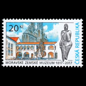 the Moravian Museum in Brno on stamps of Czech Republic 2017