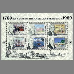 Thomas Jefferson on stamps of Dominica 1989