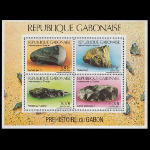 Flint tools on stamps of Gabon
