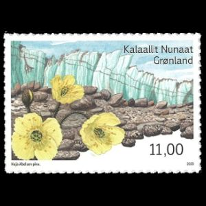 Arctic deserts at Kangerlussuaq on post stamps of Greenland 2020
