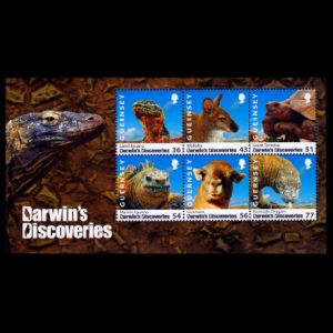 Darwins Discoveries on stamps of Guernsey 2009