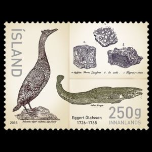 Eggert Olafsson 250th Anniversary stamp of Iceland 2018