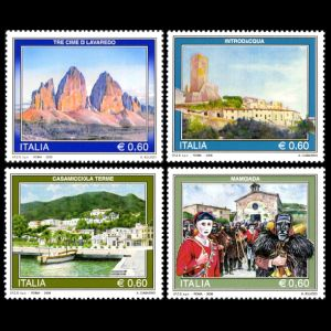 Fossil found place Dolomites on stamps of Italy 2015