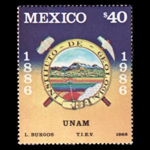 Dinosaurs and other prehistoric animals on stamp of Mexico 2006