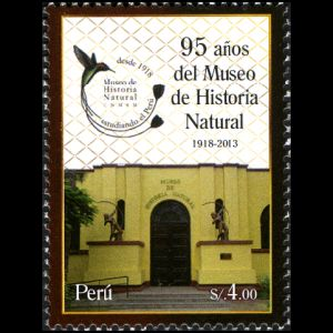 Natural History Museum on stamp of Peru 2013