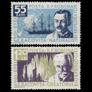 Emil Racovita on stamps of Romania 1958