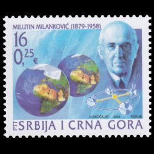 Milutin Milankovic on stamp of Serbia 2004