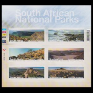 Fossil found place on landscape stamps of South Africa 2016