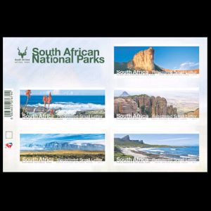 Fossil found place on landscape stamps of South Africa 2017