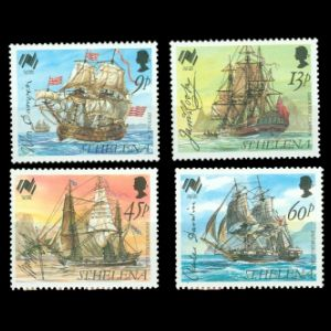 HMS Beagle on Australia Bicentennial stamps of St Helena 1986