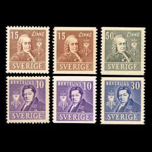 Carl Linnei on stamps of Sweden 1939