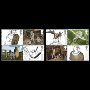 Prehistoric animals and humans on stamps of Ukraine 2017