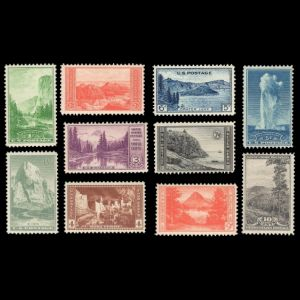 National Parks on stamp of USA 1935